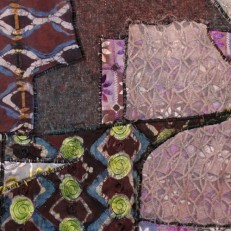 """""""Textile Dealer,"""" detail, batik quilt, 2006"""
