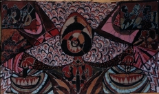 """""""Equal Rights and Justice,"""" batik on cotton"""