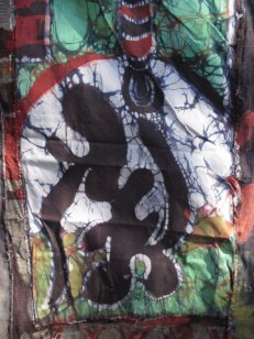 """""""Africa is Trapped Between Eastern and Western Religion,"""" detail, 22' x 20'"""
