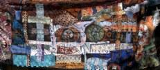 """""""Honor First, Wealth Follows,"""" batik quilt tapestry (BQT)"""