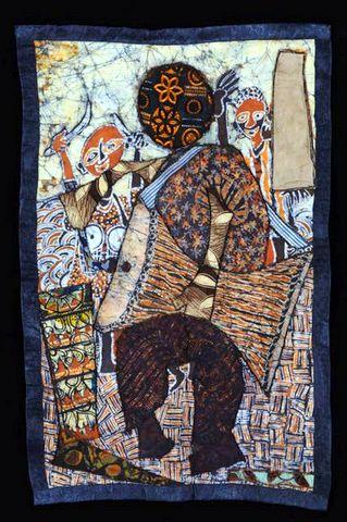 Village Drummer - Batik Quilt