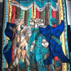 """Extended Royal Family,"" batik quilty tapestry (BQT)"