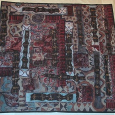 """The Beauty in Our World,"" batik quilt tapestry (BQT)"