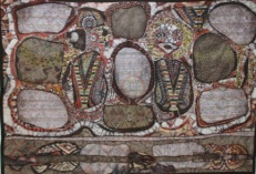 """""""Tones and Sounds of Man and Mother Nature,"""" 113"""" x 61"""", batik quilt"""