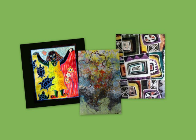 Art discussion of the works of Tunde Odunlade, Caryl Henry Alexander, and Carlos Uribe