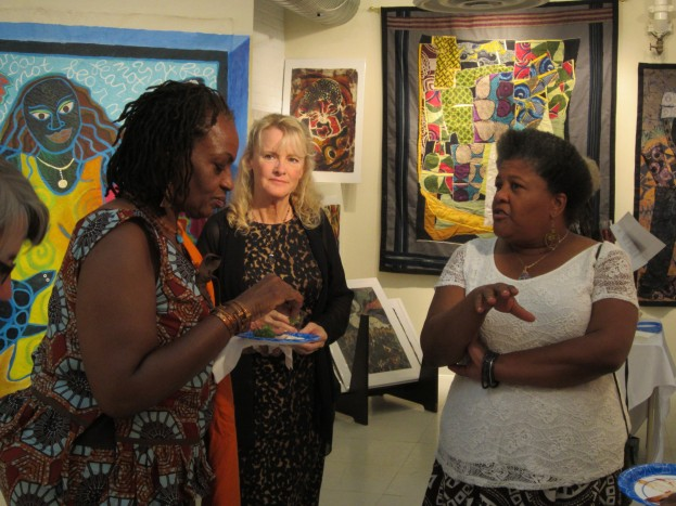 Caryl with Jamilla Abdul-Raheem and Sue Staples Morgan
