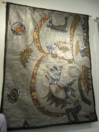 """Our Camoflauged World"" batik quilt"