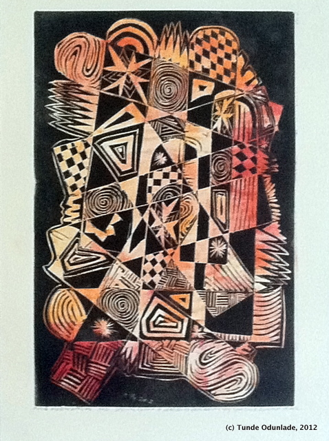 """Mass Mobilization,"" 18"" x 12"", linocut print 2012, Edition 2012"