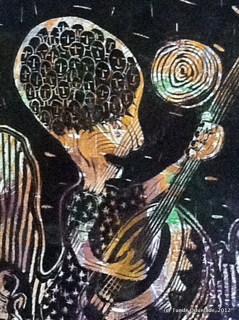 """Music Lesson, ""24"" x 18"", linocut print 1992 / Edition 2012"