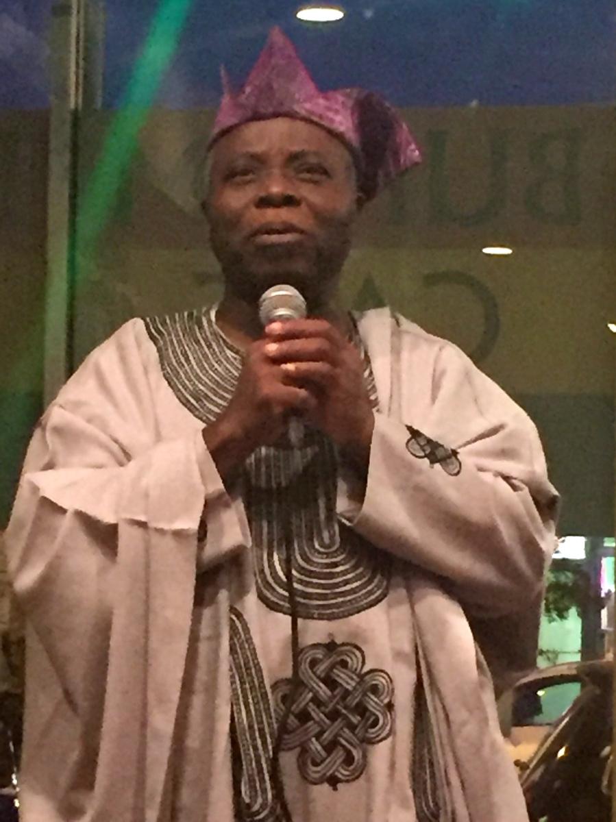 Tunde Odunlade in song at Bukom Cafe, Adams Morgan, 2015 #ICEHA