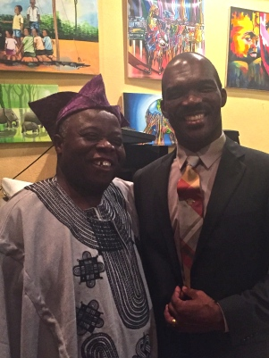 Tunde Odunlade with Nigerian artist