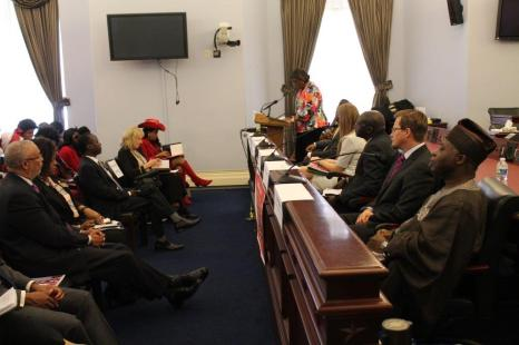 In the hearing room at Canon House Office Building