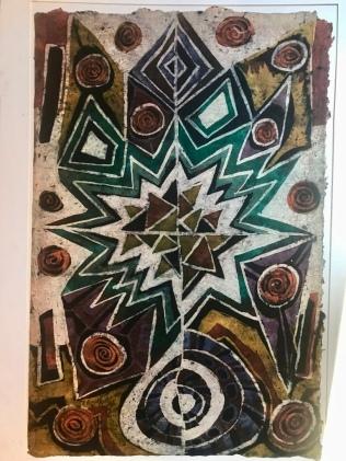 "Tunde Odunlade, 2017, batik on paper, 22.5"" w x 30"" h"
