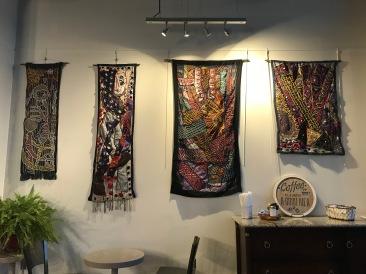 Tunde Odunlade Batik Quilt Tapestry